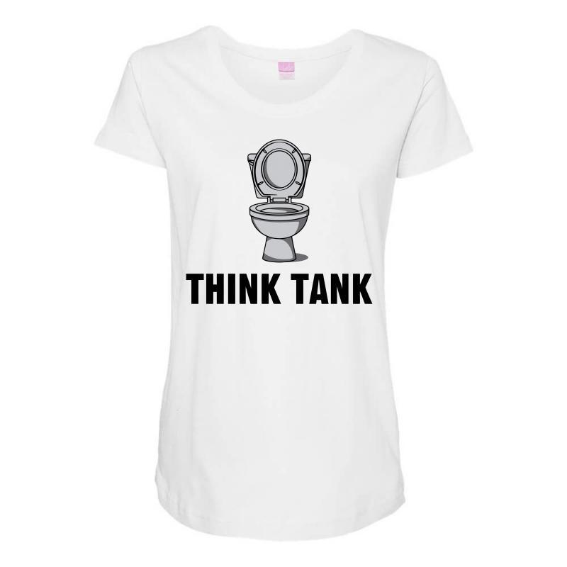 Think Tank Maternity Scoop Neck T-shirt   Artistshot