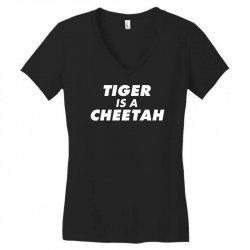tiger is a cheetah Women's V-Neck T-Shirt   Artistshot