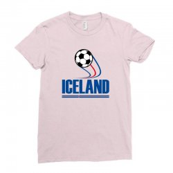 iceland football logo Ladies Fitted T-Shirt | Artistshot