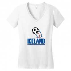 iceland football logo Women's V-Neck T-Shirt | Artistshot