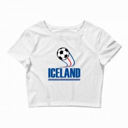 iceland football logo Crop Top | Artistshot