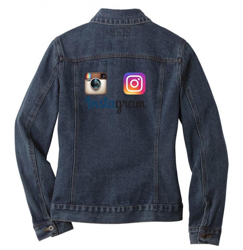 Instagram Merch Ladies Denim Jacket | Artistshot