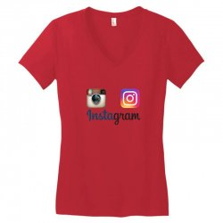 instagram merch Women's V-Neck T-Shirt | Artistshot