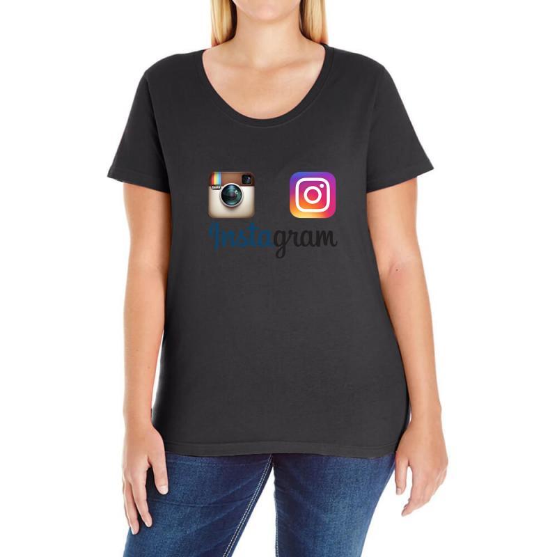 Instagram Merch Ladies Curvy T-shirt | Artistshot
