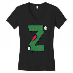z for zombies funny Women's V-Neck T-Shirt | Artistshot