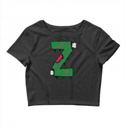 z for zombies funny Crop Top | Artistshot