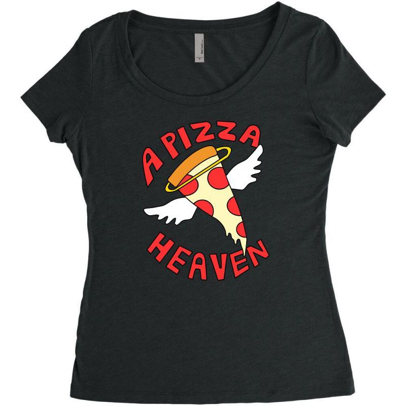 A Pizza Heaven Funny Women's Triblend Scoop T-shirt | Artistshot