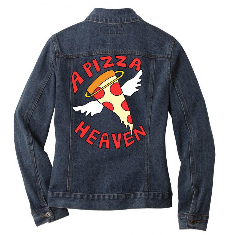 A Pizza Heaven Funny Ladies Denim Jacket | Artistshot