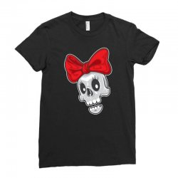 skull ribbon Ladies Fitted T-Shirt | Artistshot