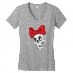 skull ribbon Women's V-Neck T-Shirt | Artistshot
