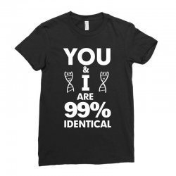 99% identical light funny Ladies Fitted T-Shirt | Artistshot