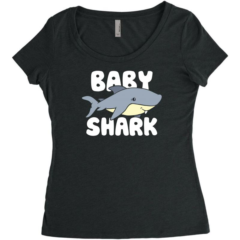 Baby Shark Funny Women's Triblend Scoop T-shirt | Artistshot