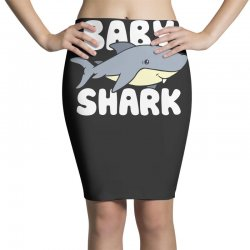 baby shark funny Pencil Skirts | Artistshot