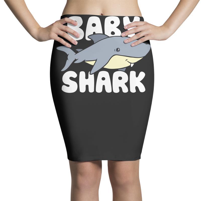 Baby Shark Funny Pencil Skirts | Artistshot