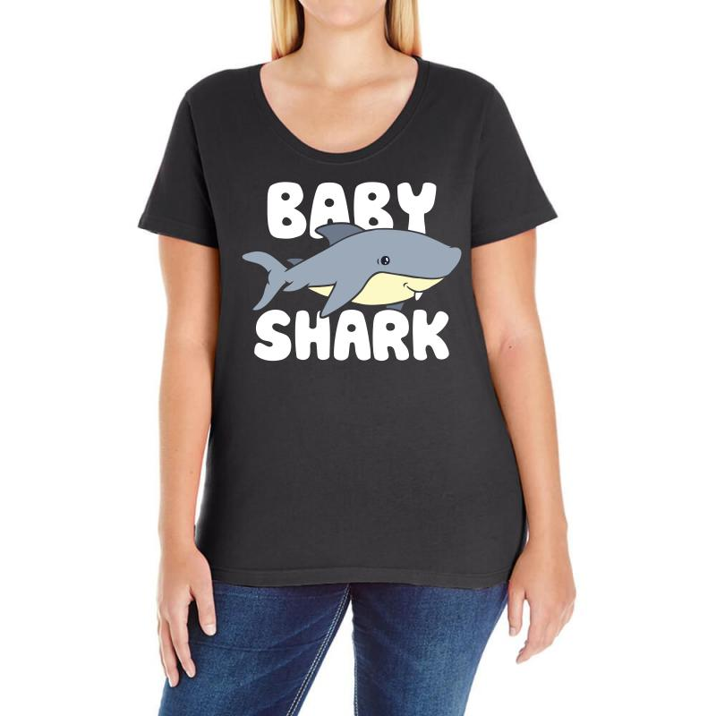 Baby Shark Funny Ladies Curvy T-shirt | Artistshot