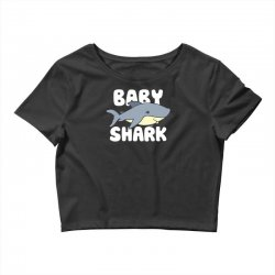 baby shark funny Crop Top | Artistshot