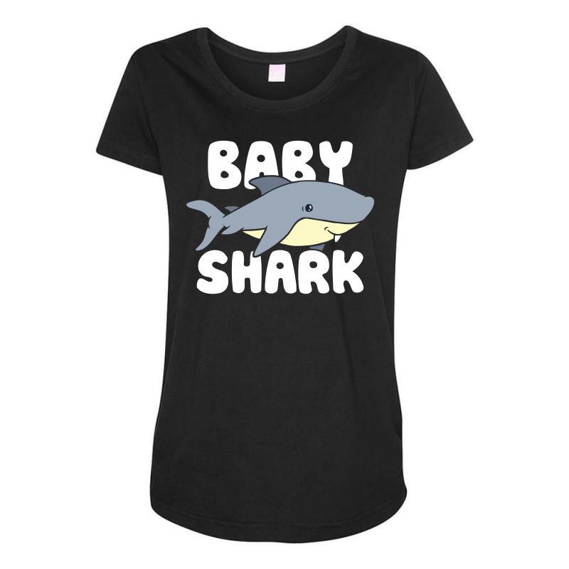 Baby Shark Funny Maternity Scoop Neck T-shirt | Artistshot