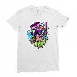 skull snorkle Ladies Fitted T-Shirt | Artistshot