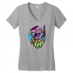 skull snorkle Women's V-Neck T-Shirt | Artistshot
