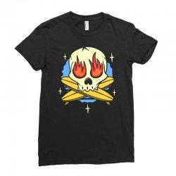 skull surf surfig Ladies Fitted T-Shirt | Artistshot