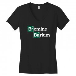 bromine and barium funny science funny Women's V-Neck T-Shirt | Artistshot