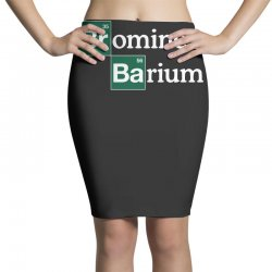 bromine and barium funny science funny Pencil Skirts | Artistshot