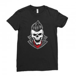 skull with slick hair 1 Ladies Fitted T-Shirt | Artistshot