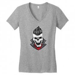 skull with slick hair 1 Women's V-Neck T-Shirt | Artistshot