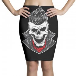 skull with slick hair 1 Pencil Skirts | Artistshot