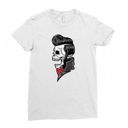 skull with slick hair 2 Ladies Fitted T-Shirt | Artistshot