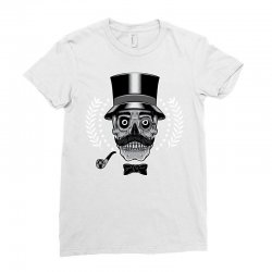 skull with vintage tall head Ladies Fitted T-Shirt   Artistshot