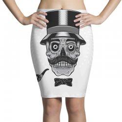 skull with vintage tall head Pencil Skirts   Artistshot