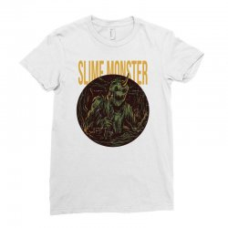 slime monster Ladies Fitted T-Shirt | Artistshot