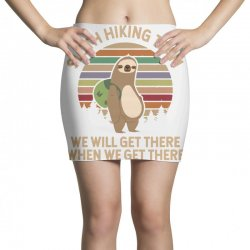 sloth hiking team print Mini Skirts | Artistshot