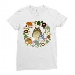 totoro cute Ladies Fitted T-Shirt | Artistshot