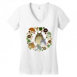 totoro cute Women's V-Neck T-Shirt | Artistshot