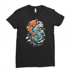 snowboard bear Ladies Fitted T-Shirt   Artistshot