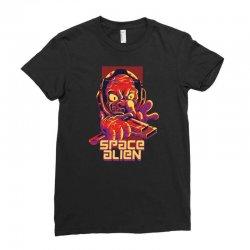 space alien Ladies Fitted T-Shirt | Artistshot
