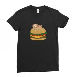 dog and burger Ladies Fitted T-Shirt | Artistshot