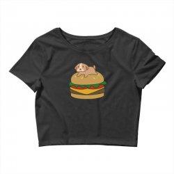 dog and burger Crop Top | Artistshot