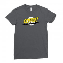 coffee and moon funny Ladies Fitted T-Shirt | Artistshot