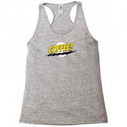 coffee and moon funny Racerback Tank | Artistshot