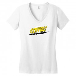coffee and moon funny Women's V-Neck T-Shirt | Artistshot
