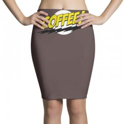 coffee and moon funny Pencil Skirts | Artistshot