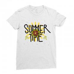 summer time (2) Ladies Fitted T-Shirt   Artistshot