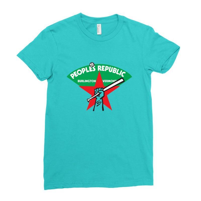 People's Republic Of Burlington Softball Ladies Fitted T-shirt   Artistshot