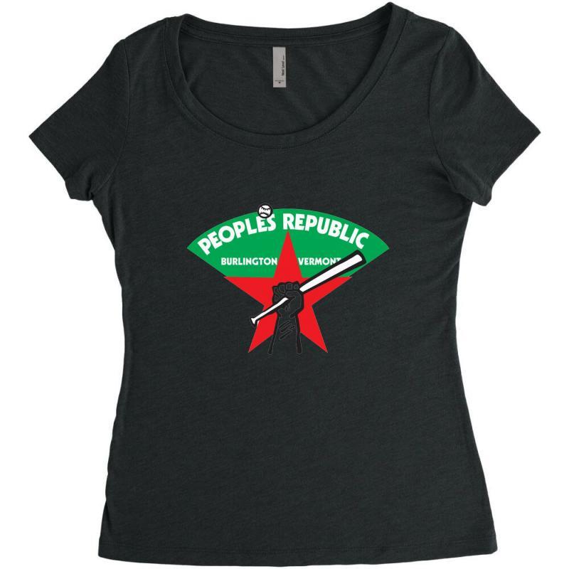 People's Republic Of Burlington Softball Women's Triblend Scoop T-shirt | Artistshot