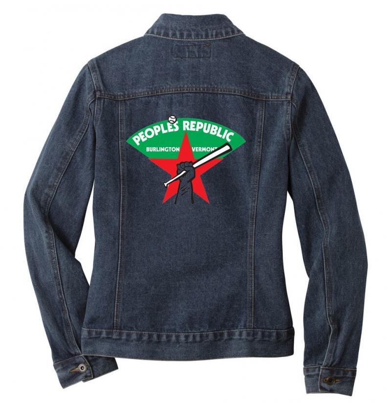 People's Republic Of Burlington Softball Ladies Denim Jacket | Artistshot