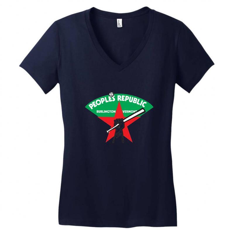 People's Republic Of Burlington Softball Women's V-neck T-shirt | Artistshot