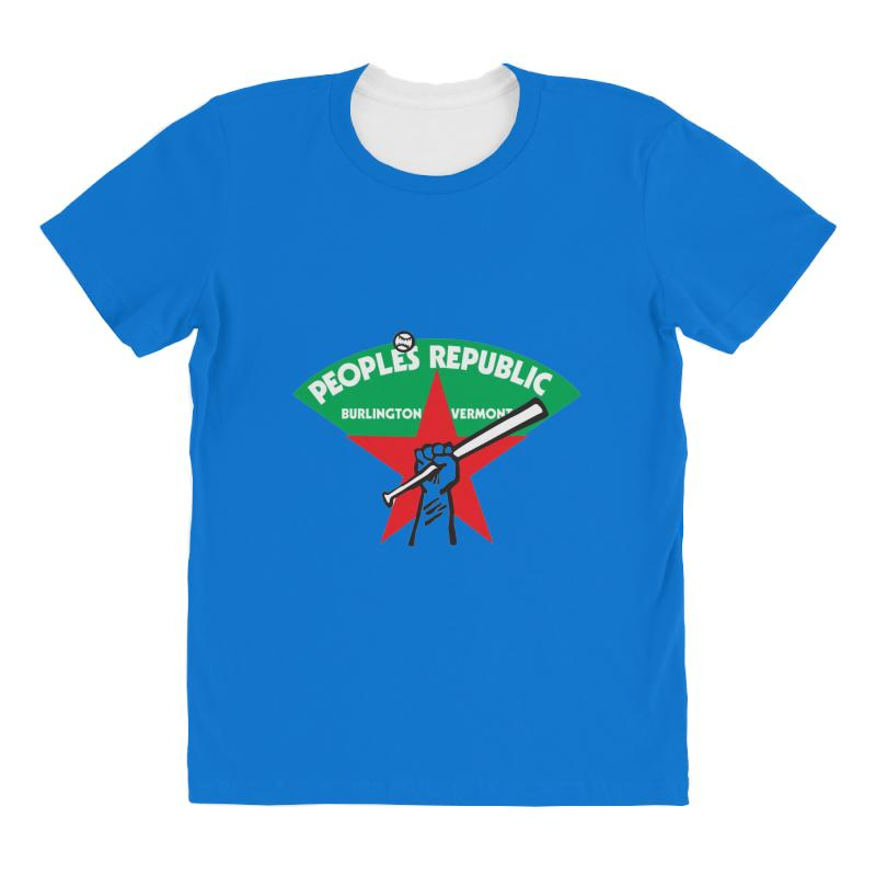 People's Republic Of Burlington Softball All Over Women's T-shirt | Artistshot